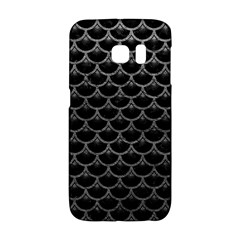 Scales3 Black Marble & Gray Leather Galaxy S6 Edge by trendistuff