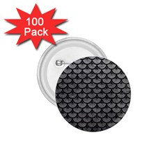 Scales3 Black Marble & Gray Leather (r) 1 75  Buttons (100 Pack)  by trendistuff