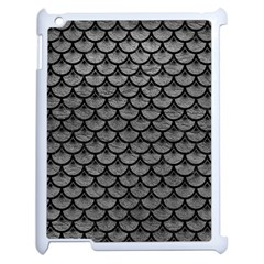 Scales3 Black Marble & Gray Leather (r) Apple Ipad 2 Case (white) by trendistuff