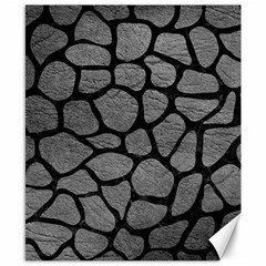 Skin1 Black Marble & Gray Leather Canvas 8  X 10  by trendistuff