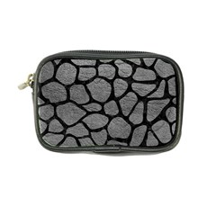 Skin1 Black Marble & Gray Leather Coin Purse by trendistuff