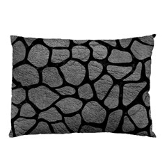 Skin1 Black Marble & Gray Leather Pillow Case (two Sides) by trendistuff