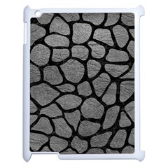 Skin1 Black Marble & Gray Leather Apple Ipad 2 Case (white) by trendistuff