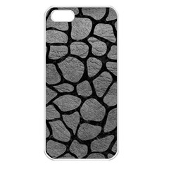 Skin1 Black Marble & Gray Leather Apple Iphone 5 Seamless Case (white) by trendistuff