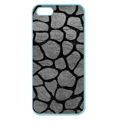 Skin1 Black Marble & Gray Leather Apple Seamless Iphone 5 Case (color) by trendistuff
