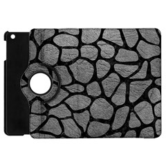 SKIN1 BLACK MARBLE & GRAY LEATHER Apple iPad Mini Flip 360 Case