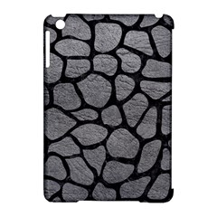 Skin1 Black Marble & Gray Leather Apple Ipad Mini Hardshell Case (compatible With Smart Cover) by trendistuff