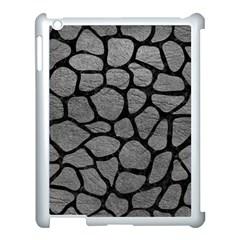 SKIN1 BLACK MARBLE & GRAY LEATHER Apple iPad 3/4 Case (White)