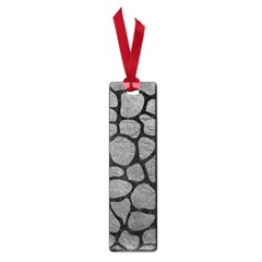 Skin1 Black Marble & Gray Leather Small Book Marks by trendistuff