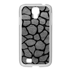SKIN1 BLACK MARBLE & GRAY LEATHER Samsung GALAXY S4 I9500/ I9505 Case (White)