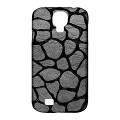 Skin1 Black Marble & Gray Leather Samsung Galaxy S4 Classic Hardshell Case (pc+silicone) by trendistuff