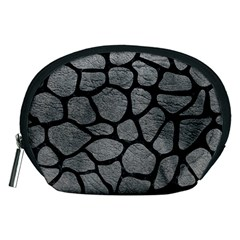 Skin1 Black Marble & Gray Leather Accessory Pouches (medium)  by trendistuff
