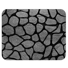 Skin1 Black Marble & Gray Leather Double Sided Flano Blanket (medium)  by trendistuff