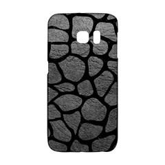 SKIN1 BLACK MARBLE & GRAY LEATHER Galaxy S6 Edge