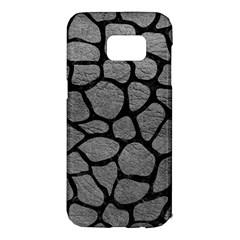 SKIN1 BLACK MARBLE & GRAY LEATHER Samsung Galaxy S7 Edge Hardshell Case