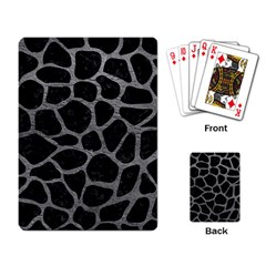 Skin1 Black Marble & Gray Leather (r) Playing Card by trendistuff