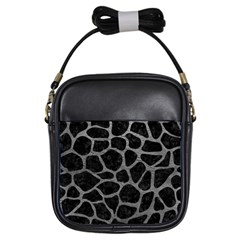 Skin1 Black Marble & Gray Leather (r) Girls Sling Bags by trendistuff