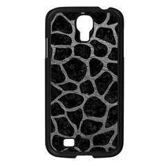 Skin1 Black Marble & Gray Leather (r) Samsung Galaxy S4 I9500/ I9505 Case (black) by trendistuff