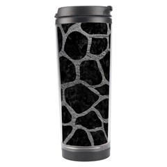 Skin1 Black Marble & Gray Leather (r) Travel Tumbler by trendistuff