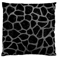 Skin1 Black Marble & Gray Leather (r) Standard Flano Cushion Case (one Side) by trendistuff