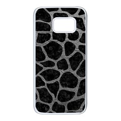 Skin1 Black Marble & Gray Leather (r) Samsung Galaxy S7 White Seamless Case by trendistuff