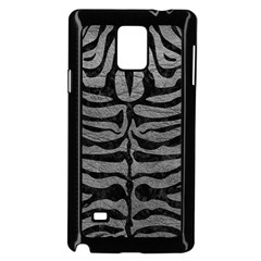 Skin2 Black Marble & Gray Leather (r) Samsung Galaxy Note 4 Case (black) by trendistuff