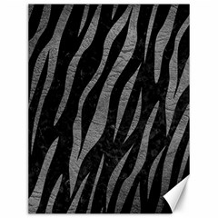 Skin3 Black Marble & Gray Leather Canvas 12  X 16   by trendistuff