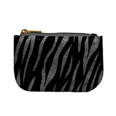 Skin3 Black Marble & Gray Leather Mini Coin Purses by trendistuff