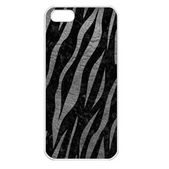 Skin3 Black Marble & Gray Leather Apple Iphone 5 Seamless Case (white) by trendistuff