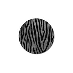Skin4 Black Marble & Gray Leather Golf Ball Marker (4 Pack) by trendistuff