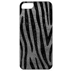 Skin4 Black Marble & Gray Leather Apple Iphone 5 Classic Hardshell Case by trendistuff