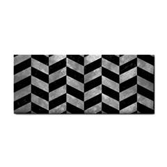 Chevron1 Black Marble & Gray Metal 2 Cosmetic Storage Cases by trendistuff