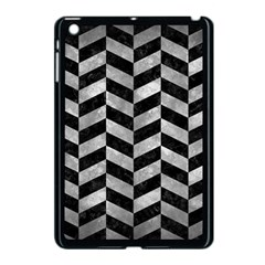 Chevron1 Black Marble & Gray Metal 2 Apple Ipad Mini Case (black) by trendistuff