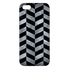 Chevron1 Black Marble & Gray Metal 2 Apple Iphone 5 Premium Hardshell Case by trendistuff