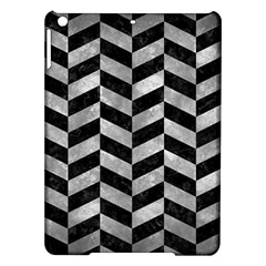 Chevron1 Black Marble & Gray Metal 2 Ipad Air Hardshell Cases by trendistuff