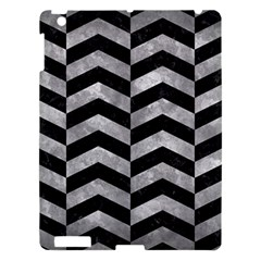 Chevron2 Black Marble & Gray Metal 2 Apple Ipad 3/4 Hardshell Case by trendistuff