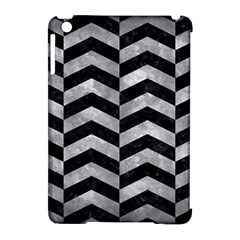 Chevron2 Black Marble & Gray Metal 2 Apple Ipad Mini Hardshell Case (compatible With Smart Cover) by trendistuff