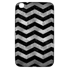 Chevron3 Black Marble & Gray Metal 2 Samsung Galaxy Tab 3 (8 ) T3100 Hardshell Case  by trendistuff