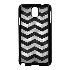 Chevron3 Black Marble & Gray Metal 2 Samsung Galaxy Note 3 Neo Hardshell Case (black) by trendistuff