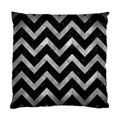 Chevron9 Black Marble & Gray Metal 2 Standard Cushion Case (two Sides) by trendistuff