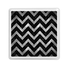 Chevron9 Black Marble & Gray Metal 2 Memory Card Reader (square)  by trendistuff