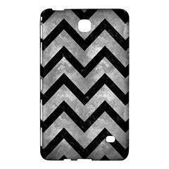 Chevron9 Black Marble & Gray Metal 2 (r) Samsung Galaxy Tab 4 (7 ) Hardshell Case  by trendistuff