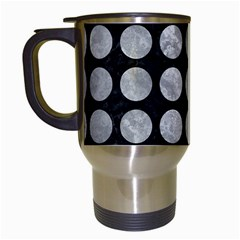 Circles1 Black Marble & Gray Metal 2 Travel Mugs (white) by trendistuff
