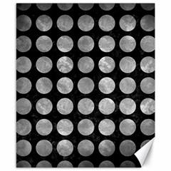Circles1 Black Marble & Gray Metal 2 Canvas 8  X 10  by trendistuff