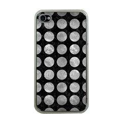 Circles1 Black Marble & Gray Metal 2 Apple Iphone 4 Case (clear) by trendistuff