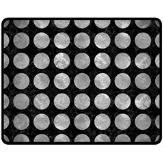 Circles1 Black Marble & Gray Metal 2 Double Sided Fleece Blanket (medium)  by trendistuff