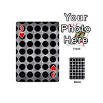 CIRCLES1 BLACK MARBLE & GRAY METAL 2 (R) Playing Cards 54 (Mini)  Front - Heart9