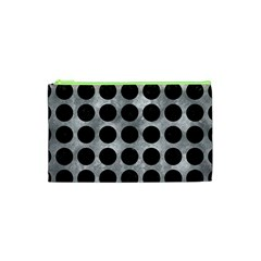 Circles1 Black Marble & Gray Metal 2 (r) Cosmetic Bag (xs) by trendistuff
