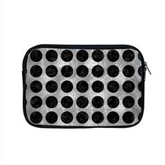 Circles1 Black Marble & Gray Metal 2 (r) Apple Macbook Pro 15  Zipper Case by trendistuff