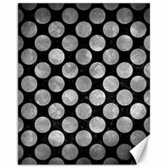 Circles2 Black Marble & Gray Metal 2 Canvas 16  X 20   by trendistuff